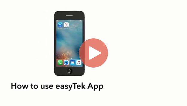 How to Use the EasyTek app video.